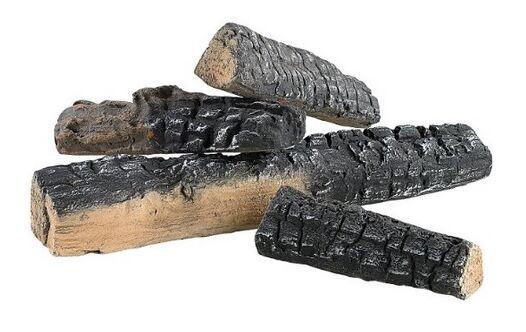 Decorative Ceramic Logs, 4 Pcs