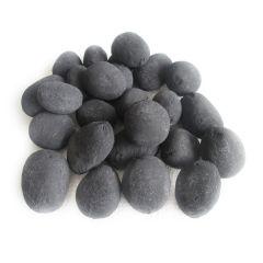 Decorative Ceramic Pebbles, 25 Pcs Black
