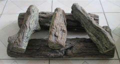 Decorative Concrete Logs, 5 Pcs White Birch