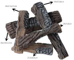 Decorative Ceramic Logs, 5 Pcs