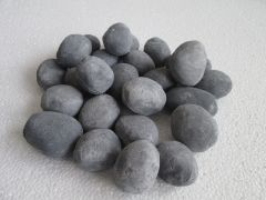 Decorative Ceramic Pebbles, 25 Pcs Slate